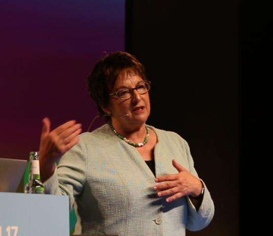 Wirtschaft- und Energieministerin Brigitte Zypries auf der re:publica