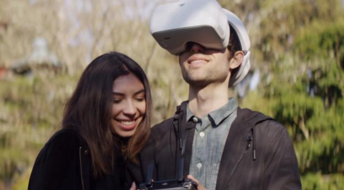 Drohne fliegen mit VR-Brille