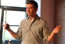 Travis Kalanick bei einem Vortrag in der Factory Berlin
