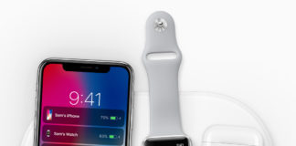 iPhone X und Apple Watch auf den Charging Dock