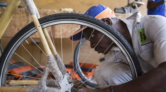 Der Bambusrahmen von My Boo wird in Ghana gefertigt