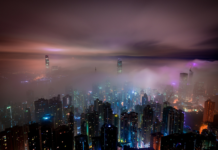 town-in-clouds-night-panorama