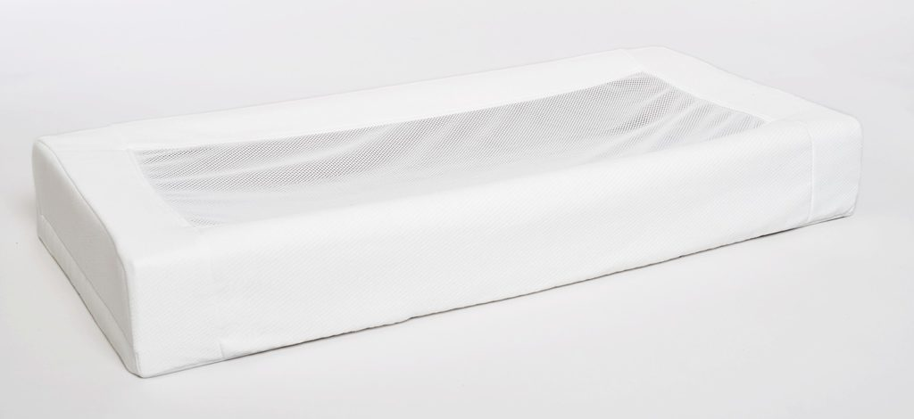 LullaMe self-rocking mattress on a white background.