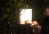 Person using nowlight off-grid light developed by startup Deciwatt.