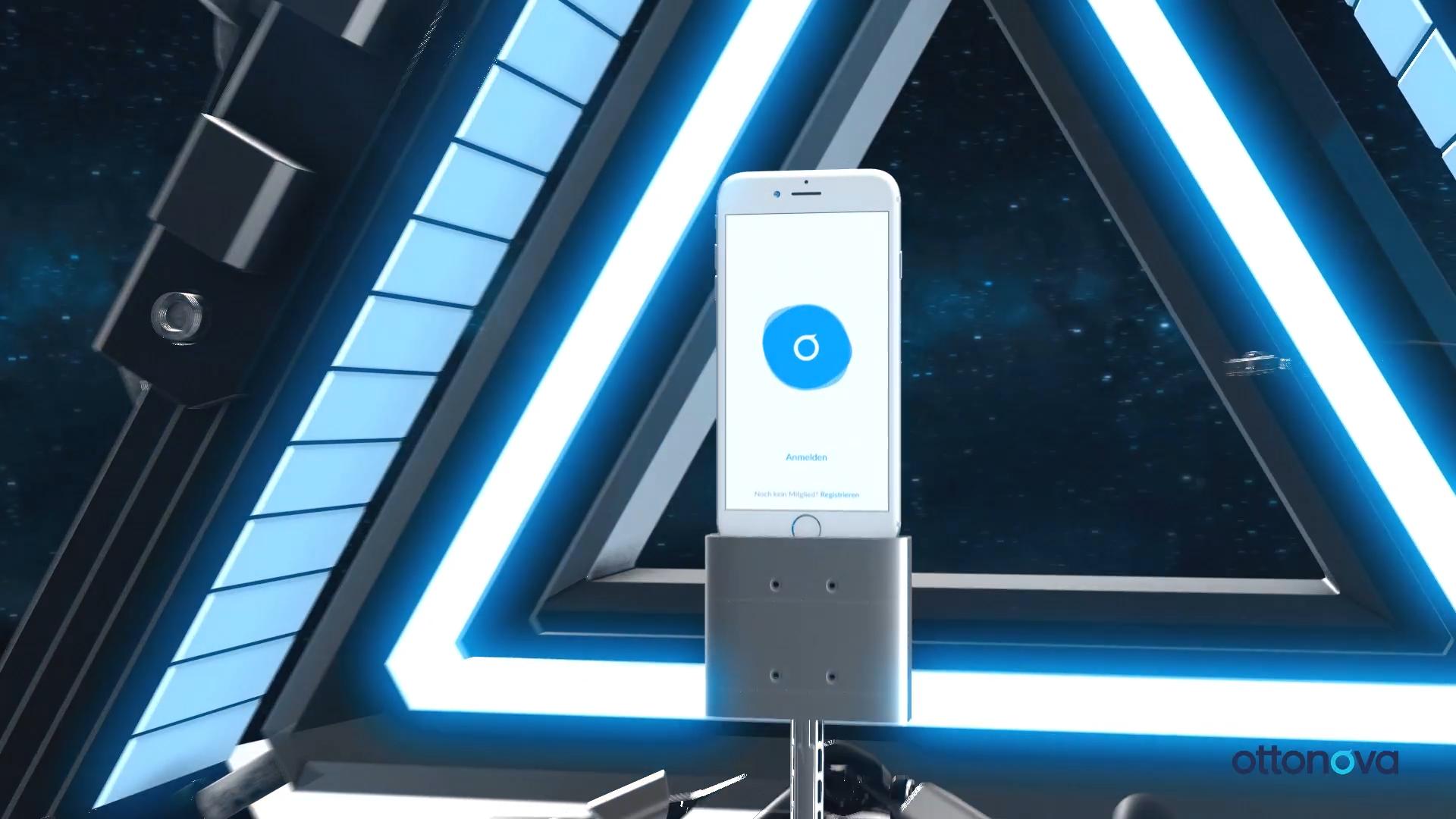 Smartphone with Ottonova digital health insurance app open.