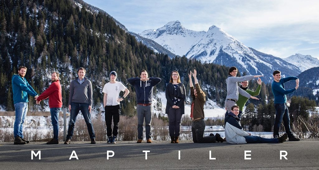The MapTiler startup team in Switzerland.